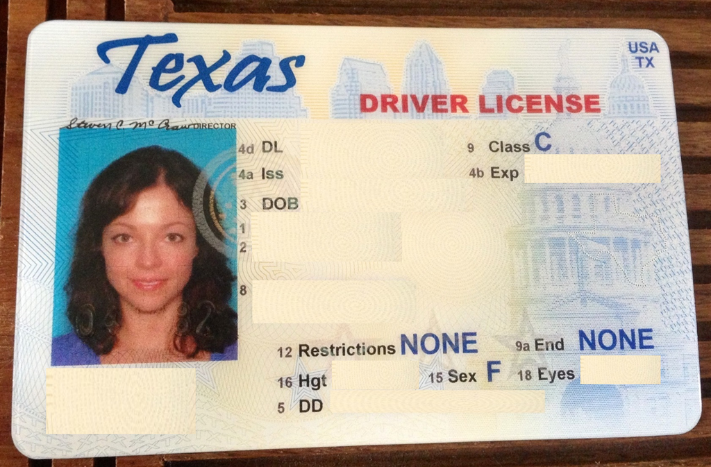 Out with the old in with the new for Texas temporary drivers license template