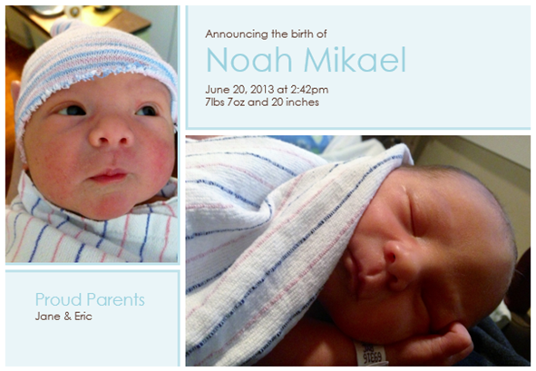 Noah Announcement